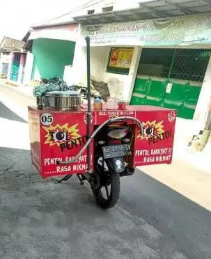 model gerobak bakso motor terbaru