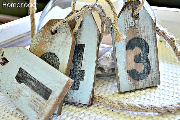 DIY weathered hang tags
