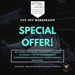 Special Deal on Watkins Home Business Save $10 on Membership