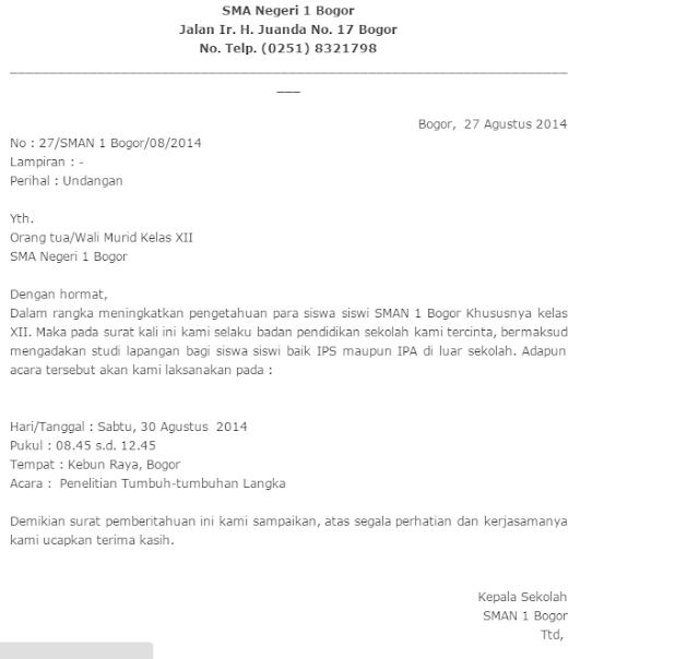 Inilah Contoh Surat Undangan Resmi dari Sekolah dan Dinas ...