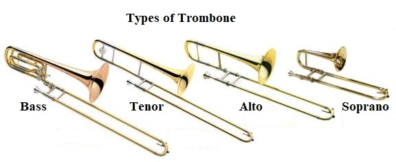 Trombones come in many shapes and sizes and there are many different types of trombone.