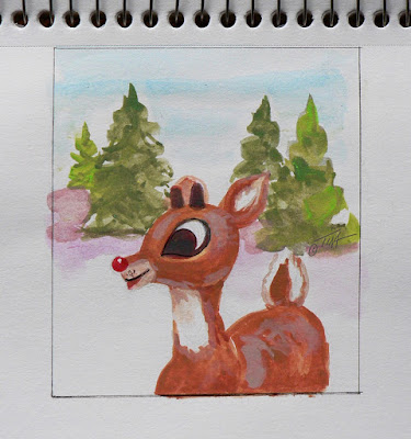 Red and Green make Rudolf's Coat. ©2018 Tina M.Welter