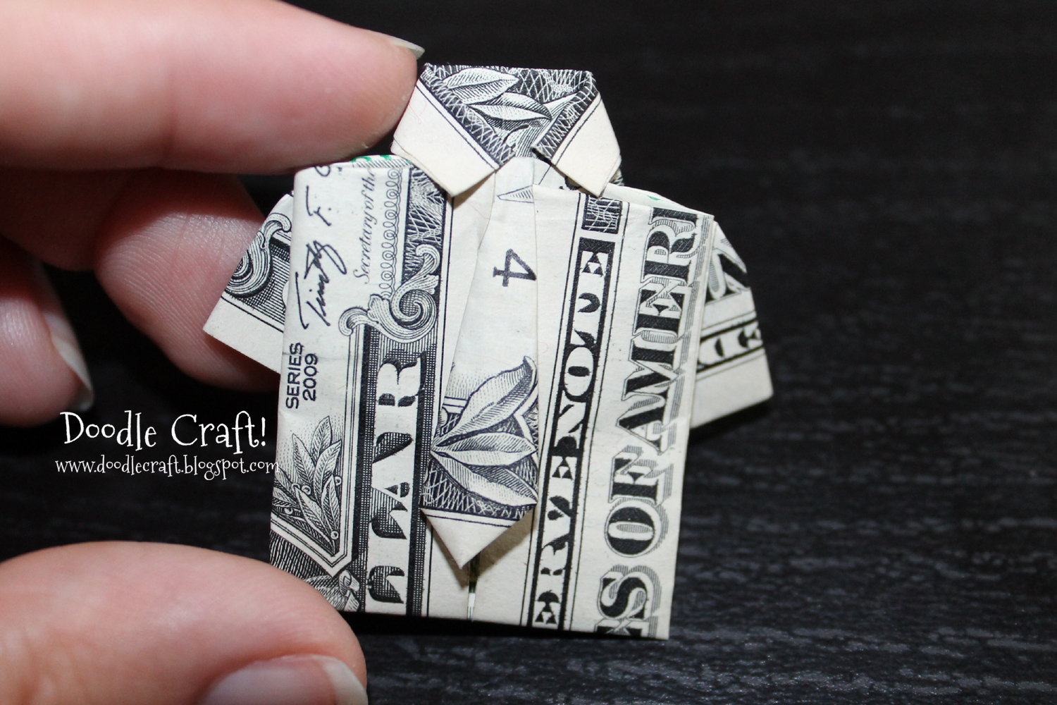 Money Origami Shirt and Tie Folding Instructions | 1000x1500