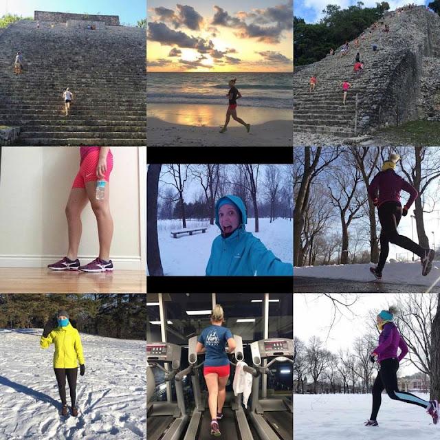 entrainement janvier 2016 course à pied et trail running