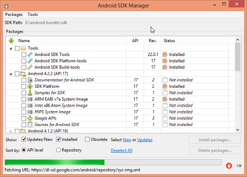 Download Android SDK Manager