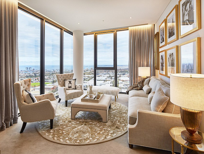 gold - Melbourne Penthouse styled by Megan Hess