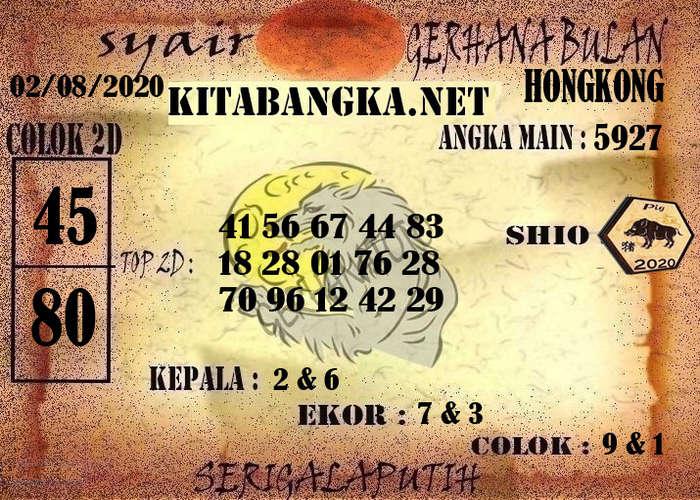 Kode syair Hongkong Minggu 2 Agustus 2020 255