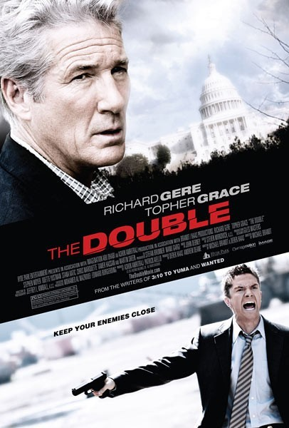 Poster Of The Double 2011 720p Hindi BRRip Dual Audio Full Movie Donwload