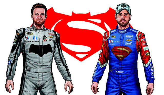 Jimmie Johnson and Dale Earnhardt Jr.'s new fire suits