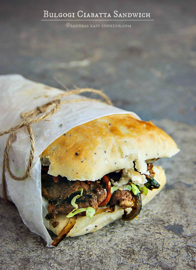 Bulgogi Ciabatta #Sandwich #recipe #food #foodie #homemade #koreanfood