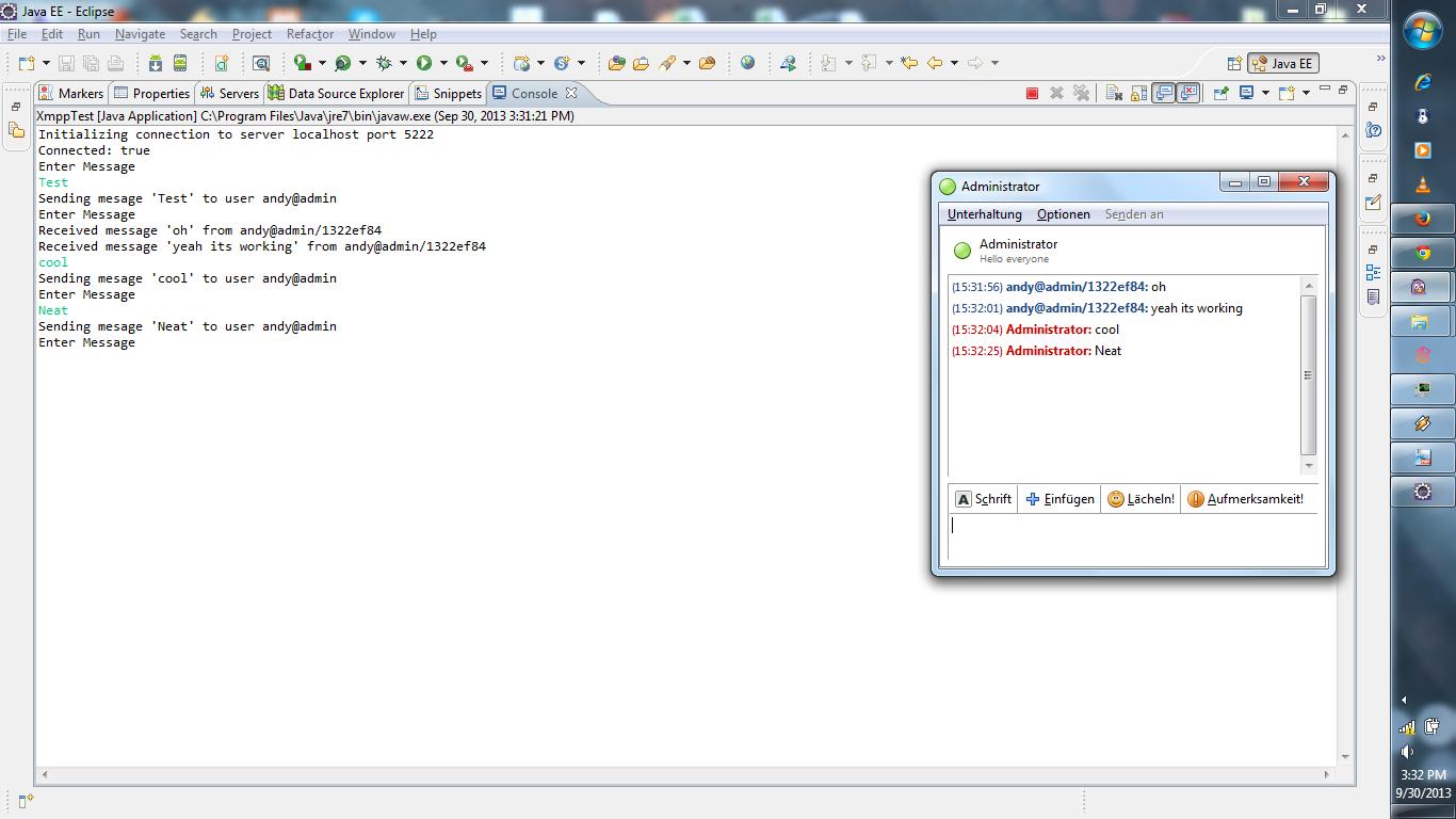 Basic XMPP Chat Program | Wonderful Web For All