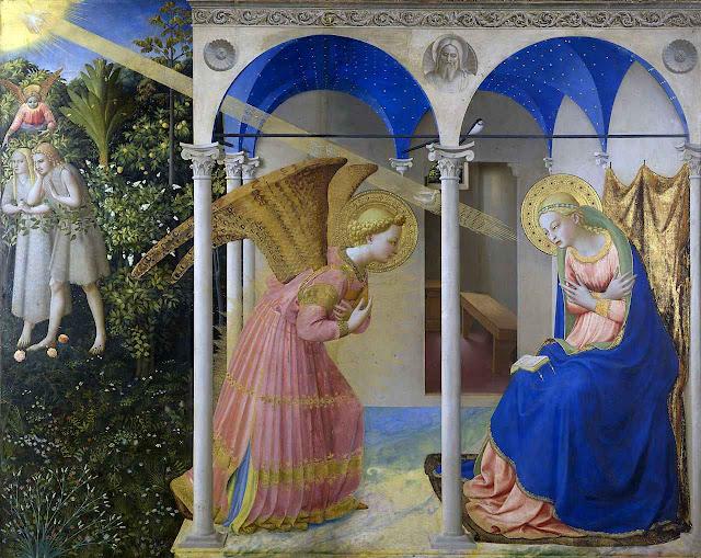 Anunciação e Encarnação do Verbo. Fra Angélico (1395 – 1455) Museo del Prado, Madri