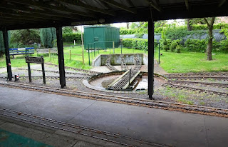 Parkside station on the Miniature Railway line at Eaton Park in Norwich