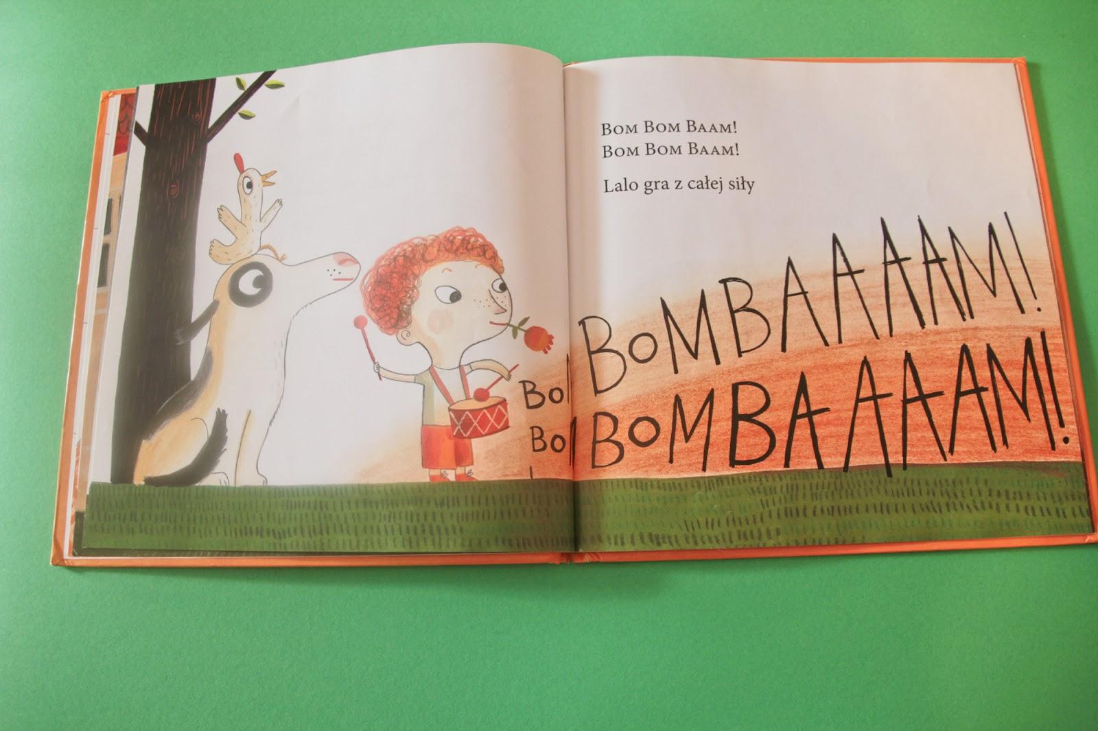 """książka dla dzieci """"Lalo gra na bębnie"""" Eva Susso, Benjamin Chaud, Zakamarki"""