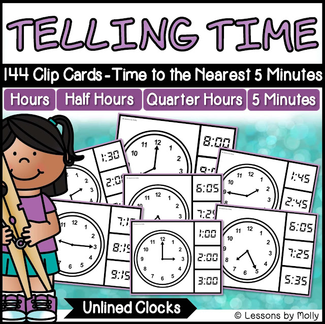 https://www.teacherspayteachers.com/Product/Telling-Time-to-the-Nearest-Five-Minutes-with-Analog-Clocks-Unlined-2937995