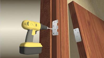 Cara Mudah Memasang Engsel Daun Pintu Kayu Jati 6