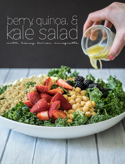 kale berry and quinoa salad