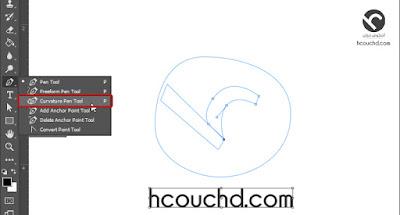 """إضافة أداة انحناء لأداة القلم """"Pen Tool""""  في فوتوشوب cc 2018"""