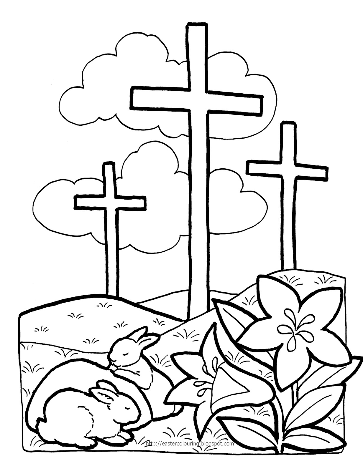 Easter Coloring Pages Rt 2