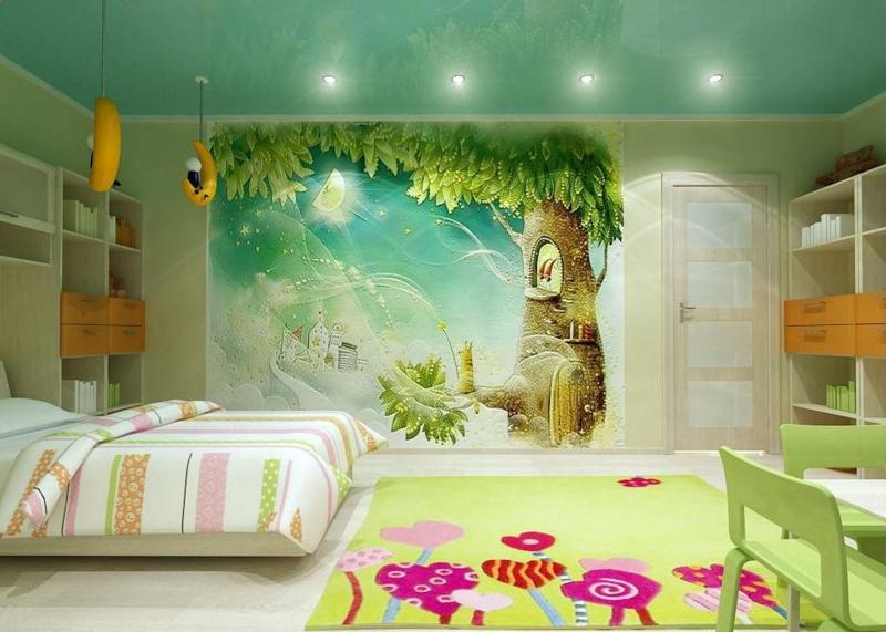 10 dormitorios decorados con murales divertidos dormitorios colores y estilos - Kinderzimmer wandbemalung ...