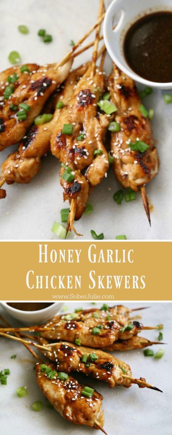Honey Garlic Chicken Skewers