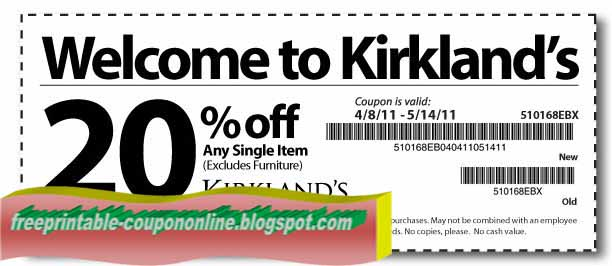 Kirklands rotate their printable coupons and promo codes offer every now and then but the most popular offers gets you at least $10 or % off your purchase (sometimes requires a purchase minimum). New customers at Kirkland can easily get access to one of these .