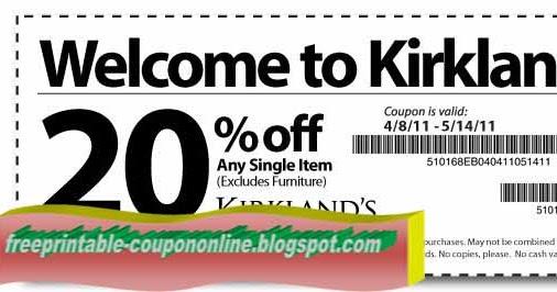 Kirklands coupons march 2018