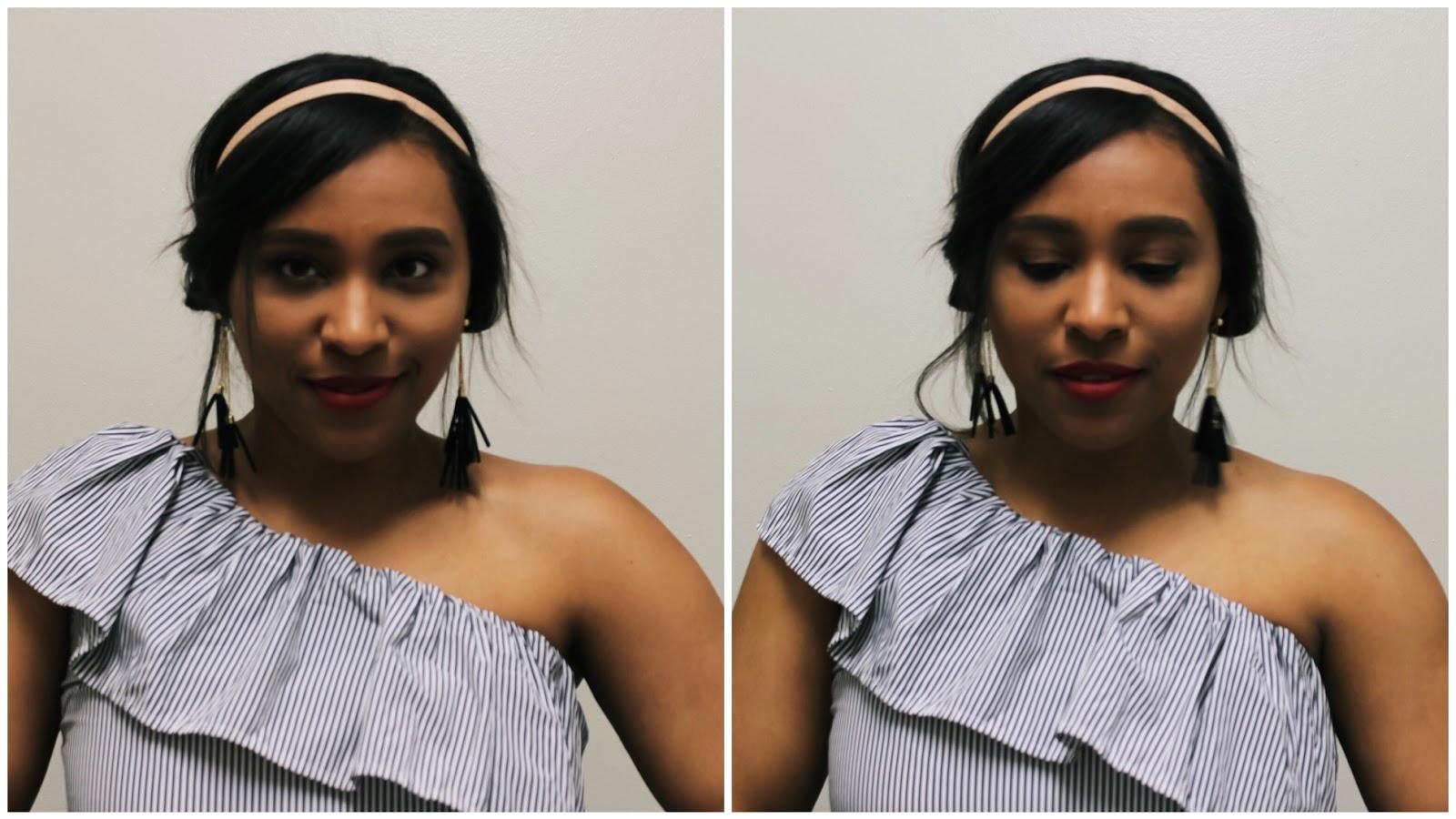 An Easy Updo Hairband Hairstyle, Fromm beauty, head band, boby pin, hair ties, ulta, cvs, hair products, short hair styles, headband hair styles, hair styles for short hair, bob hair cut, hair tutorial