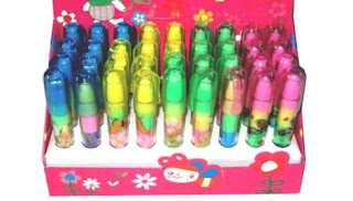 Stacking Pen Type Erasers For Kids