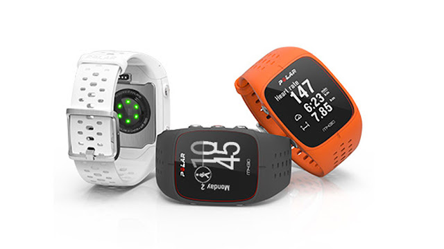 Polar M430: GPS sports watch with LED pulse meter on the wrist