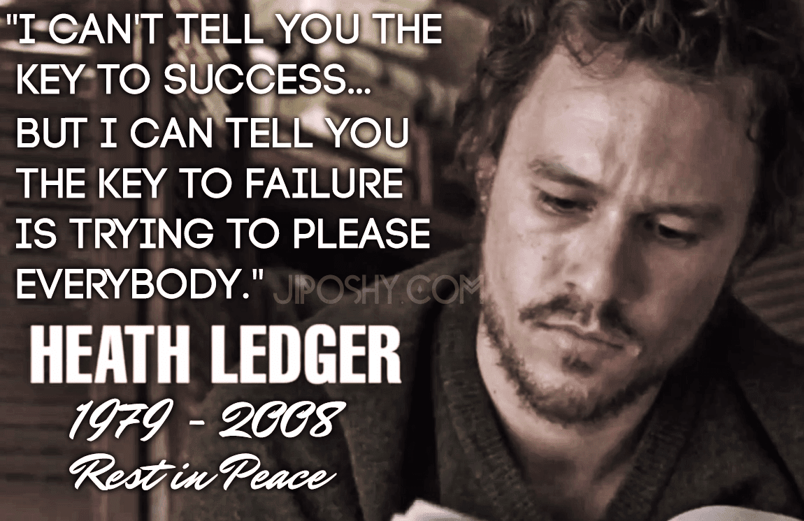 Sons Of Anarchy Quote Wallpaper Heath Ledger Quotes Quotesgram