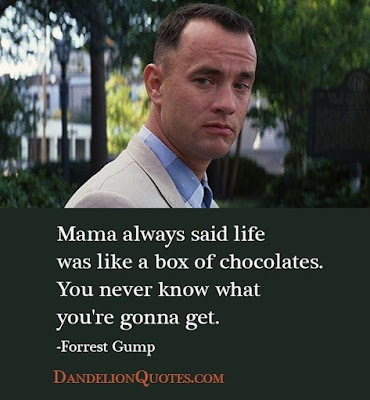 Greatest Movie Quotes OF All Time: mama always said life was like a box of chocolates.