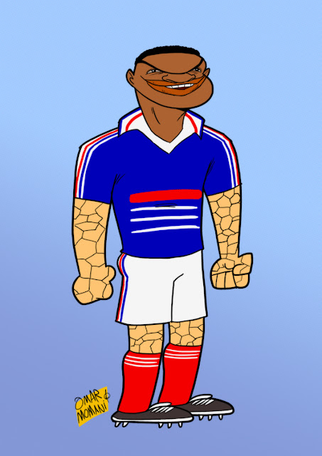 Marcel Desailly cartoon caricature