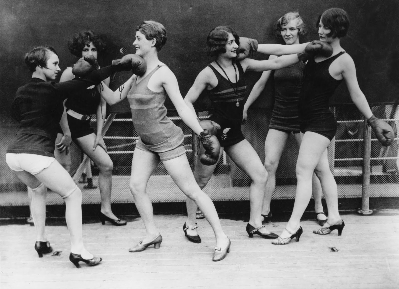 A group of women mock-boxing, ca  1920s ~ vintage everyday