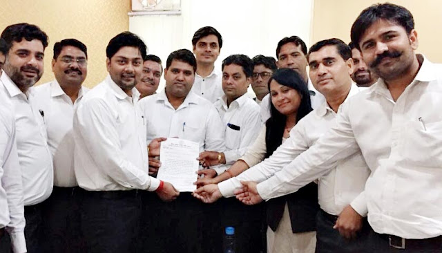 District Congress Legal Sale Chairman Anuj Sharma Advocate appointed Entry Kumar as Secretary
