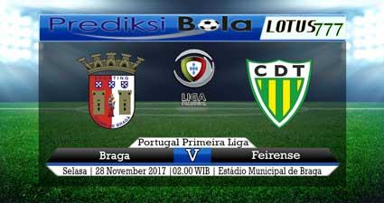 Prediksi skor Braga vs Feirense 28 November 2017