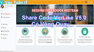 Share Code VipLike V5.0 Có Vòng Quay 2018