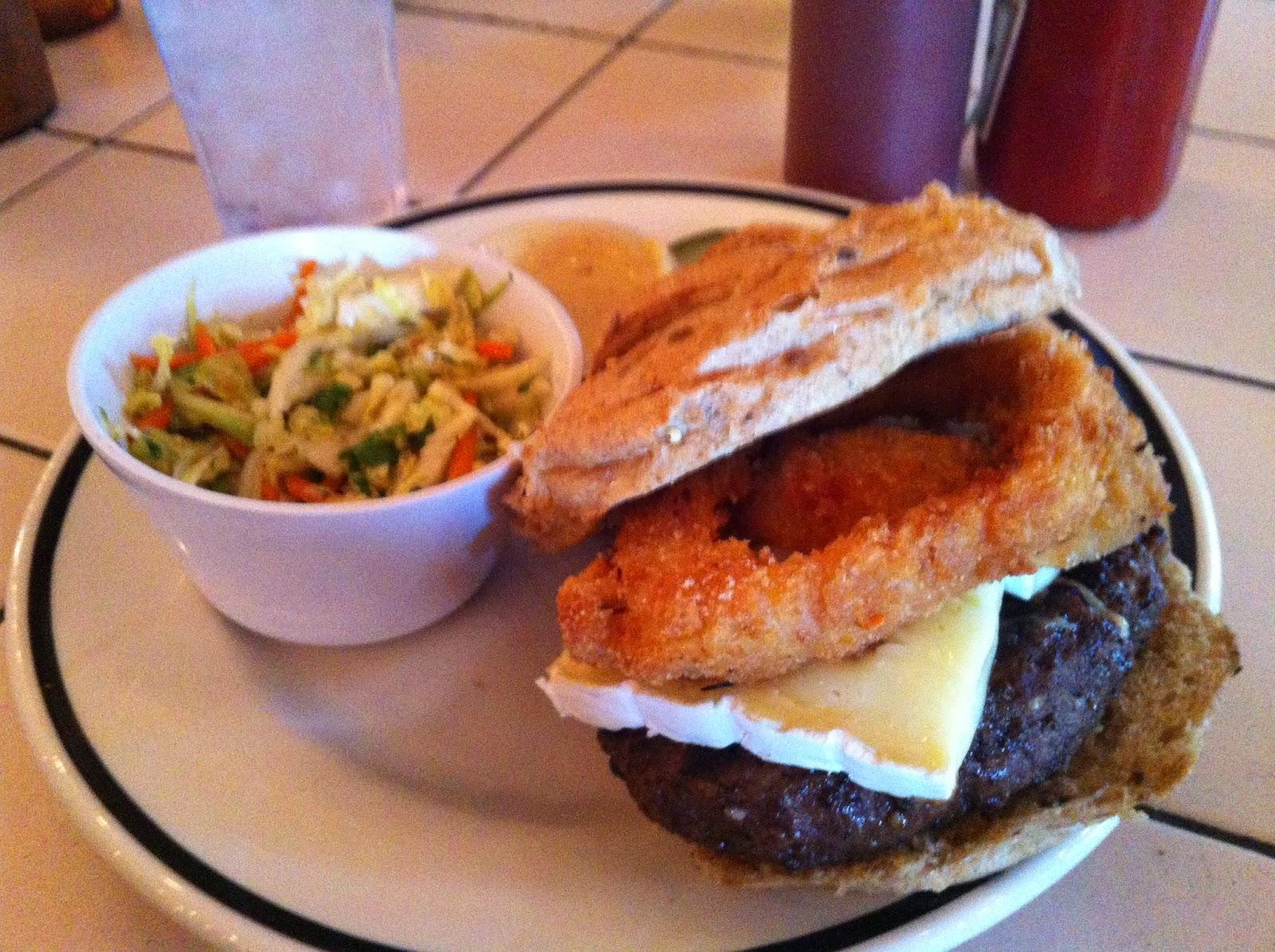 wasabi burger at crazy burger