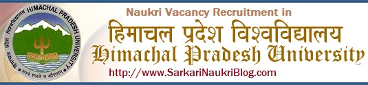 naukri vacancy job recruitment Himachal University Shimla