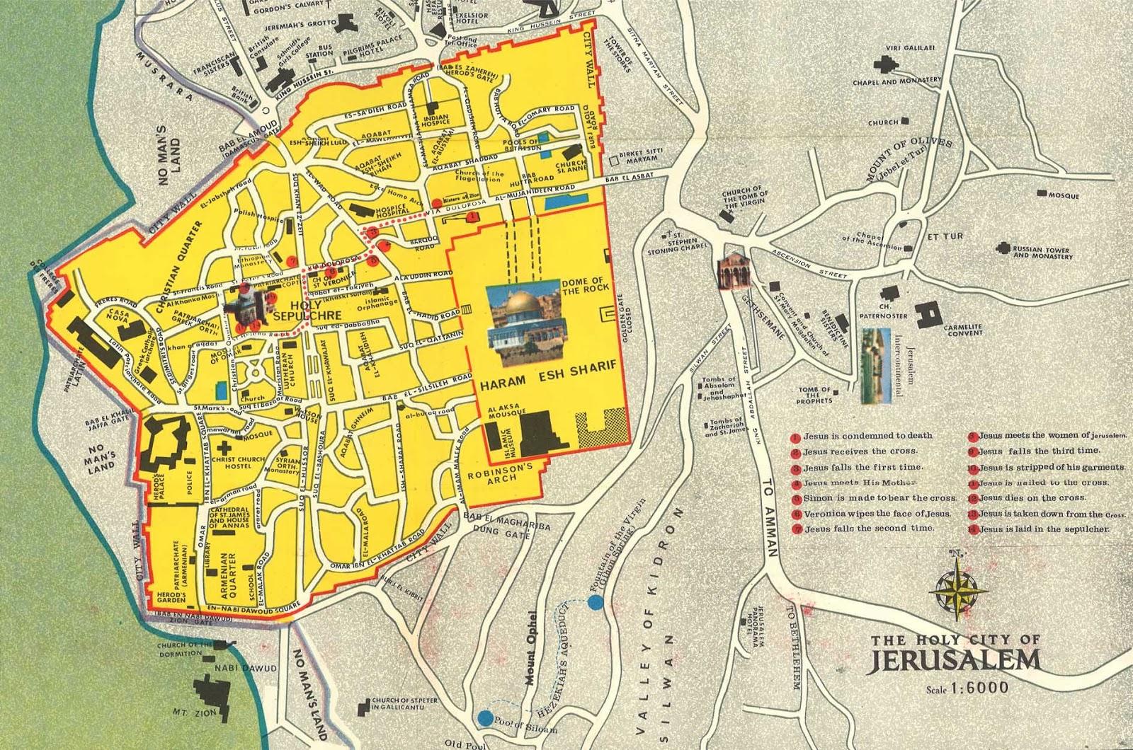 mapa jerusalem Mapas de Jerusalém   Israel | MapasBlog mapa jerusalem