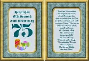 Geburtstagssprüche Zum 75. Geburtstag