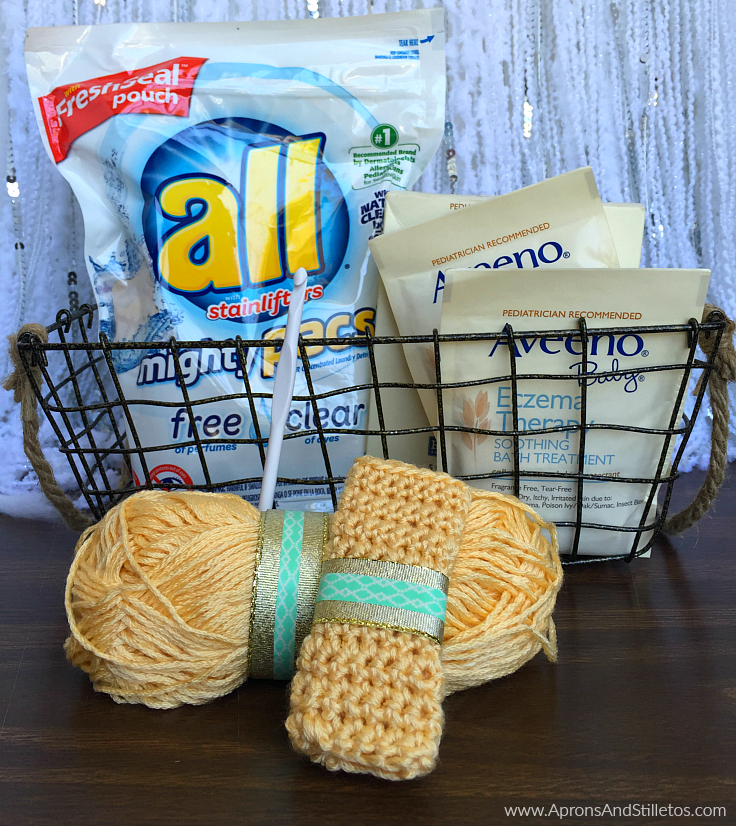 Super Soft Crochet Washcloth Tutorial + Skin Care Tips for Babies with Allergies