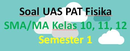 Soal UAS PAT Fisika SMA/MA Kelas 10, 11, 12 Semester 1