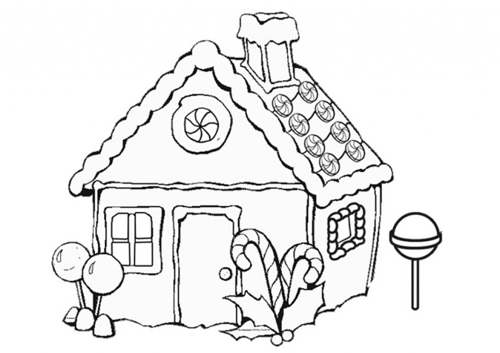 Dynamite image intended for printable gingerbread house coloring pages
