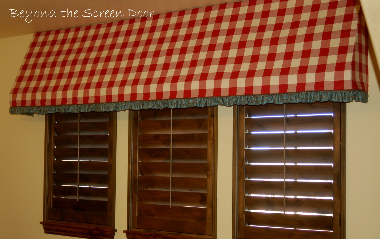 An Awning For The Gameroom Sonya Hamilton Designs