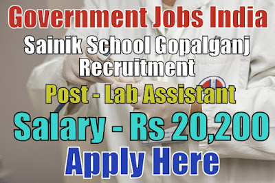 Sainik School Recruitment 2017 Gopalganj