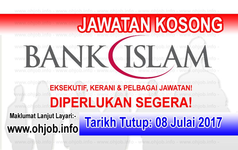 Jawatan Kerja Kosong Bank Islam Malaysia Berhad - BIMB logo www.ohjob.info julai 2017
