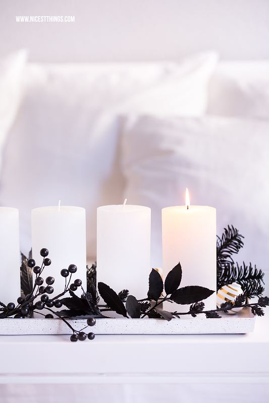 diy adventskranz in schwarz weiss kreafunk kopfh rer nicest things. Black Bedroom Furniture Sets. Home Design Ideas