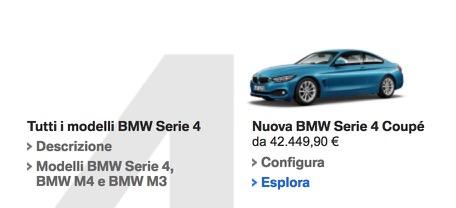 Alfa Romeo Giulia Coupè prezzi vs confronto bmw serie 4 coupè