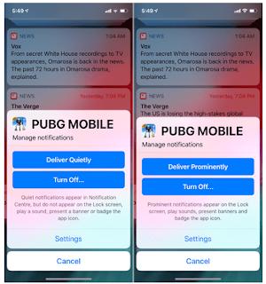 Cara Mematikan Notifikasi Layar Kunci Sementara untuk Aplikasi di iOS 12